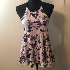 Purple and pink floral Forever 21 top